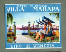 Collectable Hotel luggage label  ITALY  Mabapa Venezia     #552